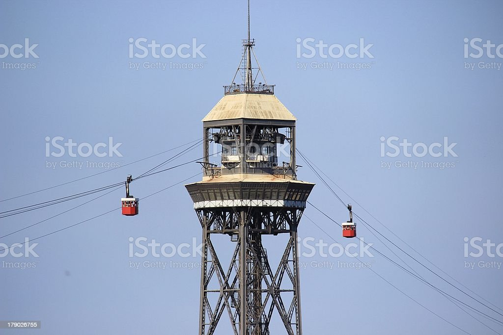 Cable Car Tower royalty-free stock photo
