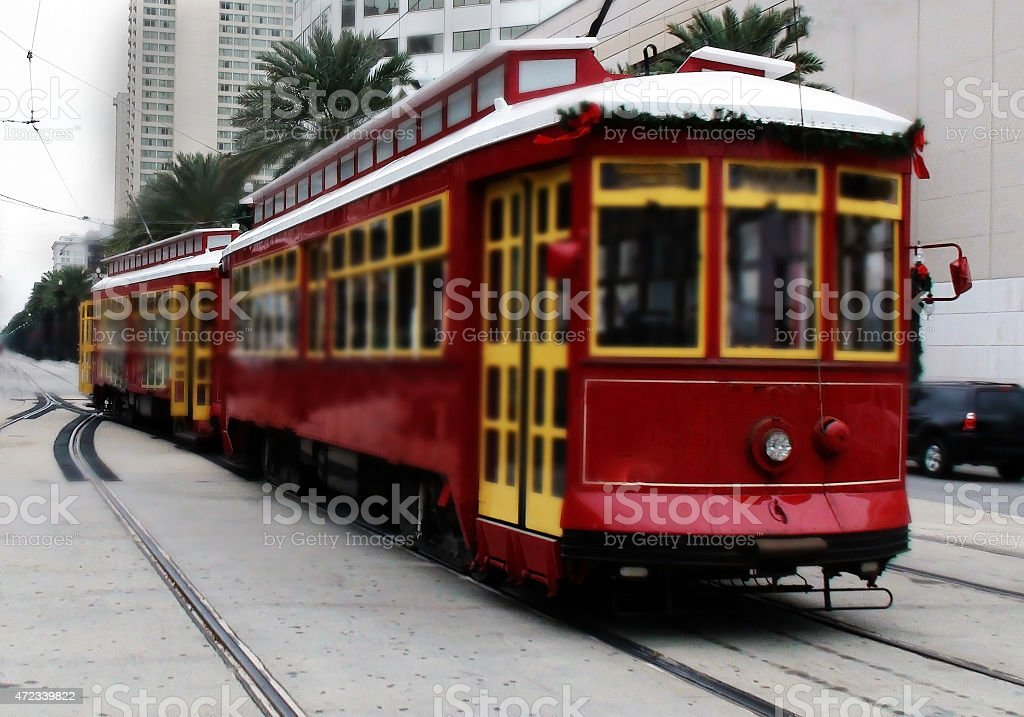 Cable Car Transportation in New Orleans stock photo