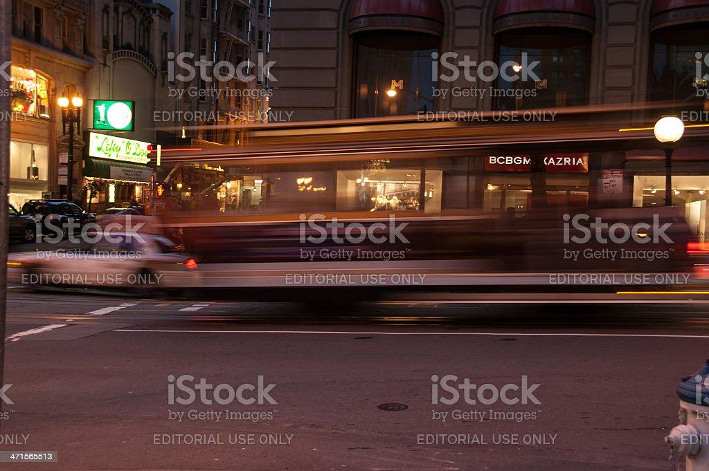 Cable Car, Union Square, San Francisco, USA royalty-free stock photo