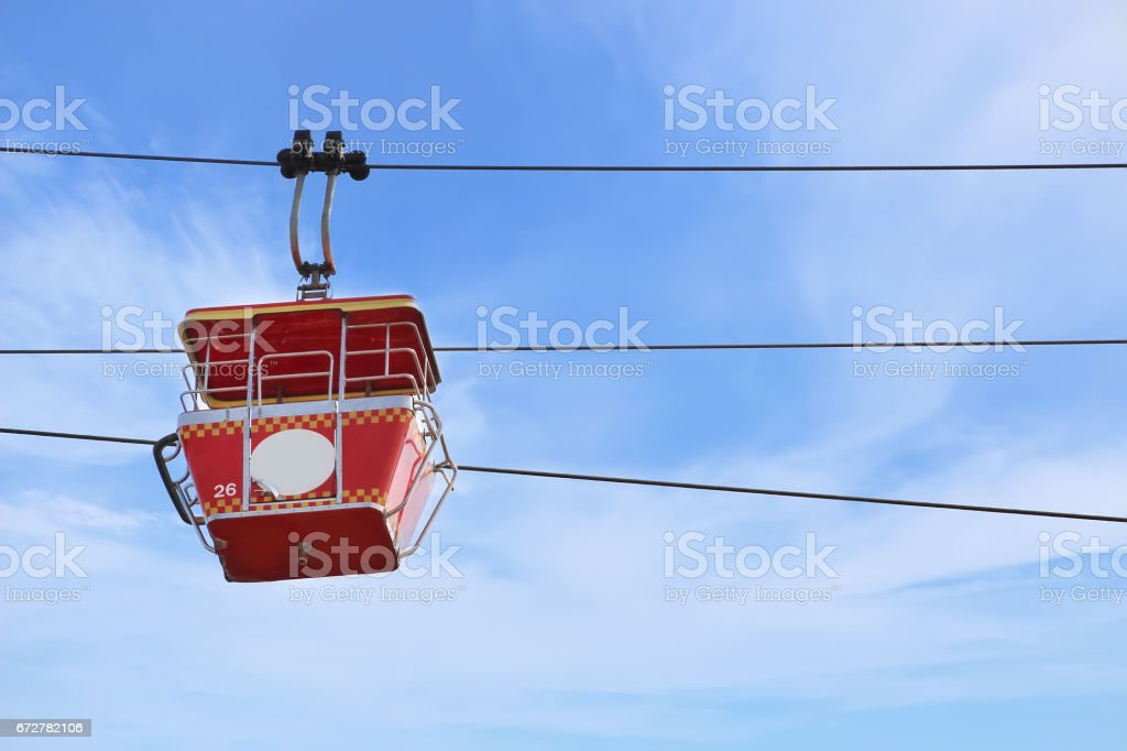 Cable car with blue sky background stock photo