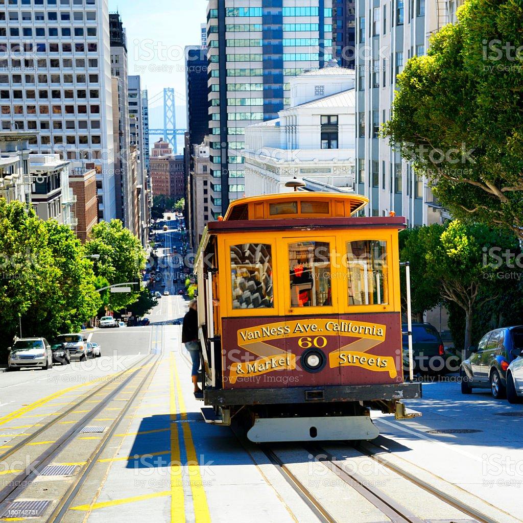 'Cable Car,California Street,San Francisco' stock photo