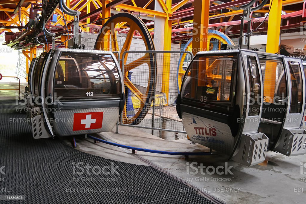 Cable Cars at Mt. Titlis stock photo