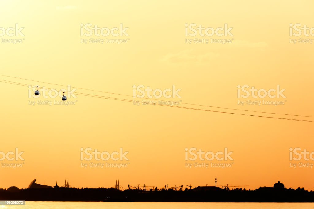 Cable cars stock photo