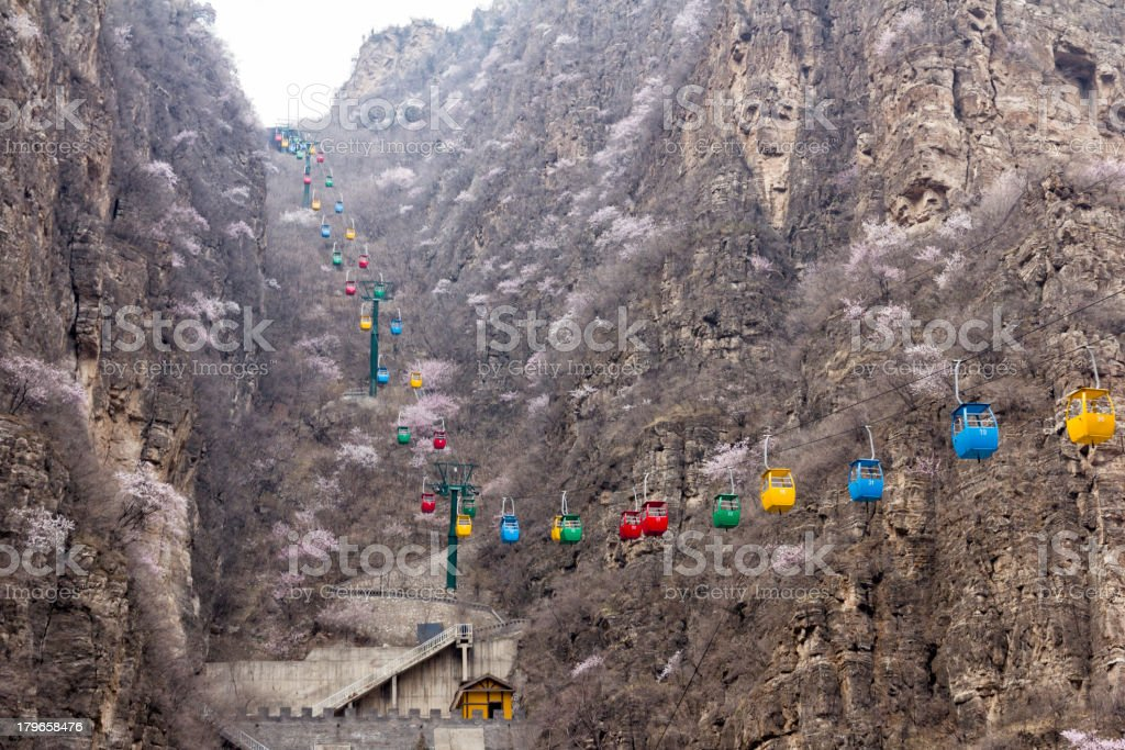 Cable cars royalty-free stock photo