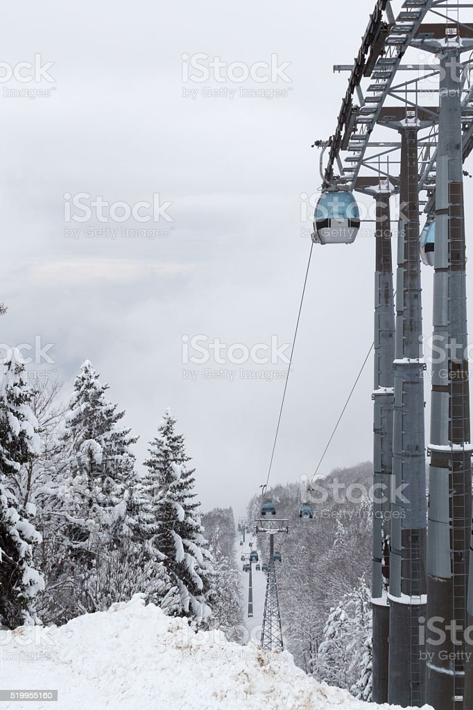 Cable cars. stock photo