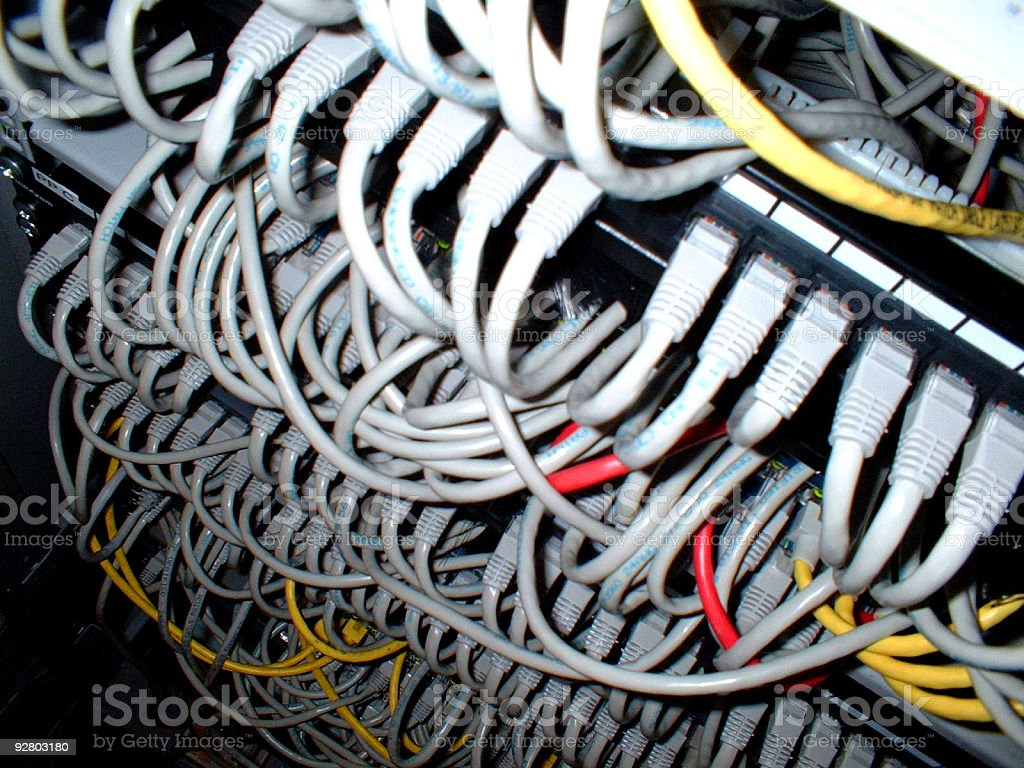 Cable Chaos II royalty-free stock photo