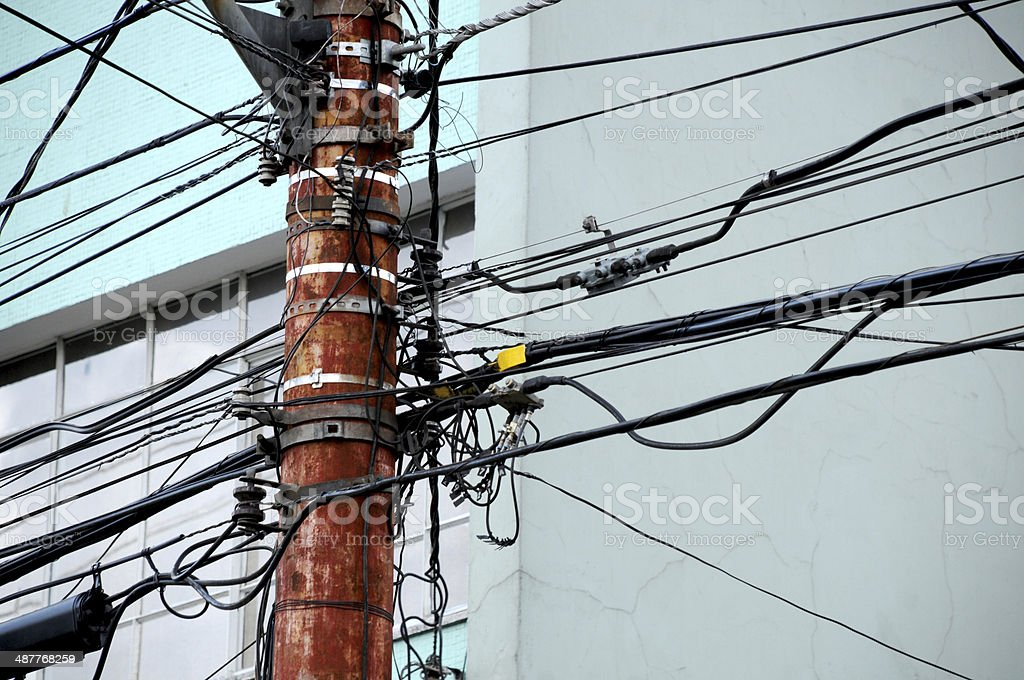 cable chaos royalty-free stock photo
