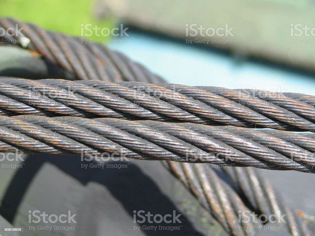 Cable Closeup royalty-free stock photo