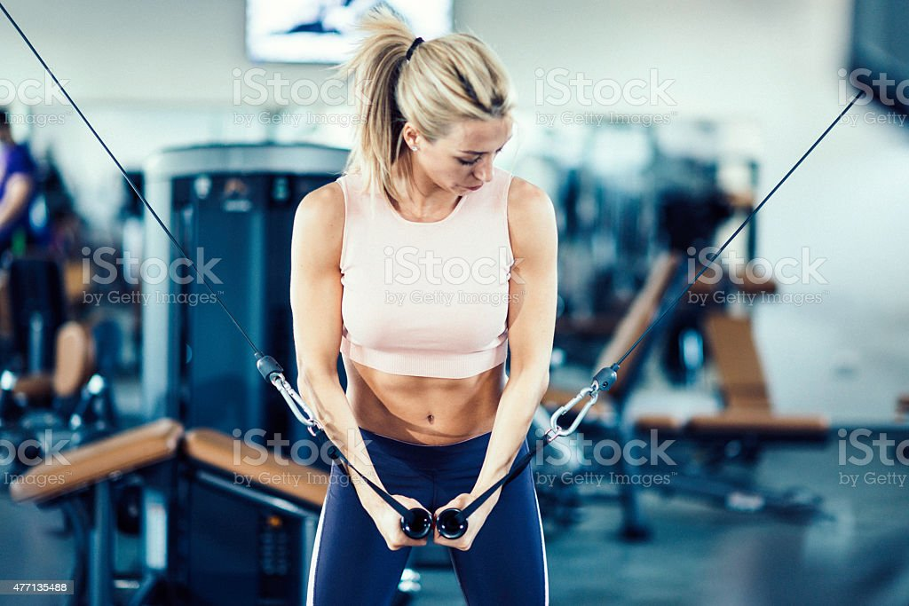 Cable Crossover Girl stock photo
