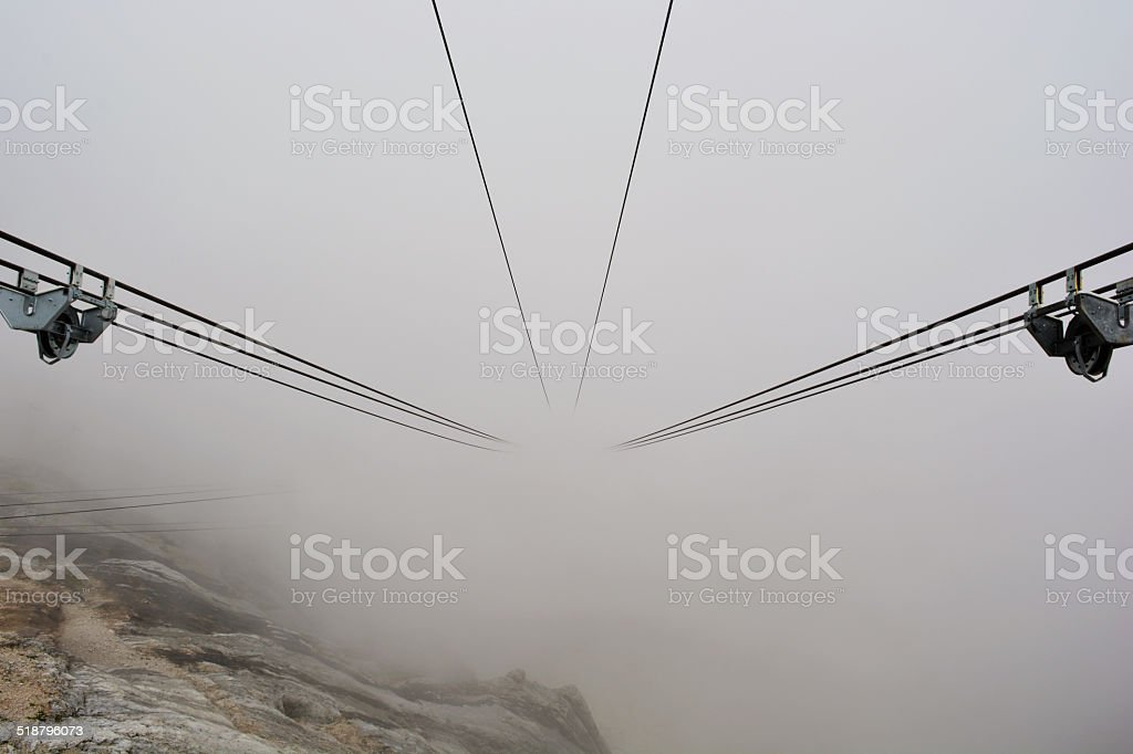 Cable Fanicular Railway stock photo