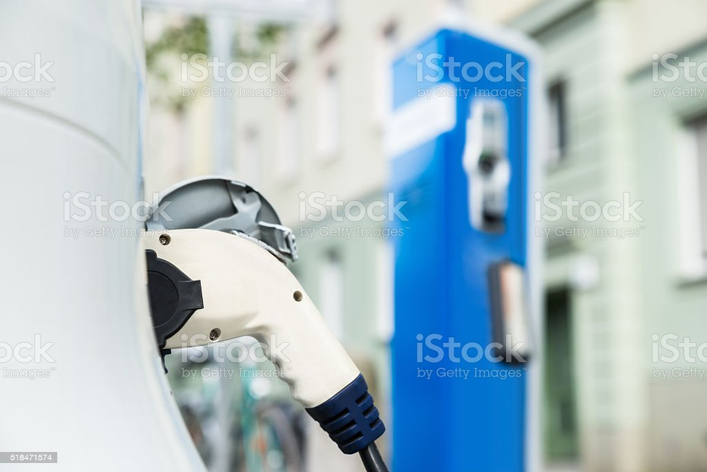 Cable For Charging An Electric Car stock photo