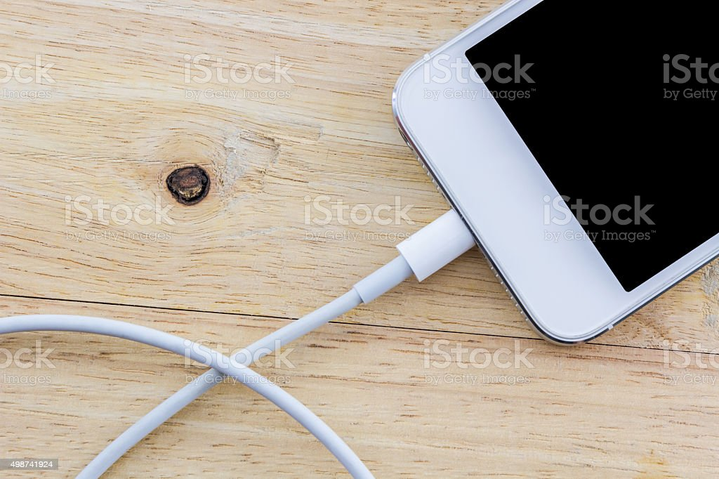 USB cable for smartphone. stock photo