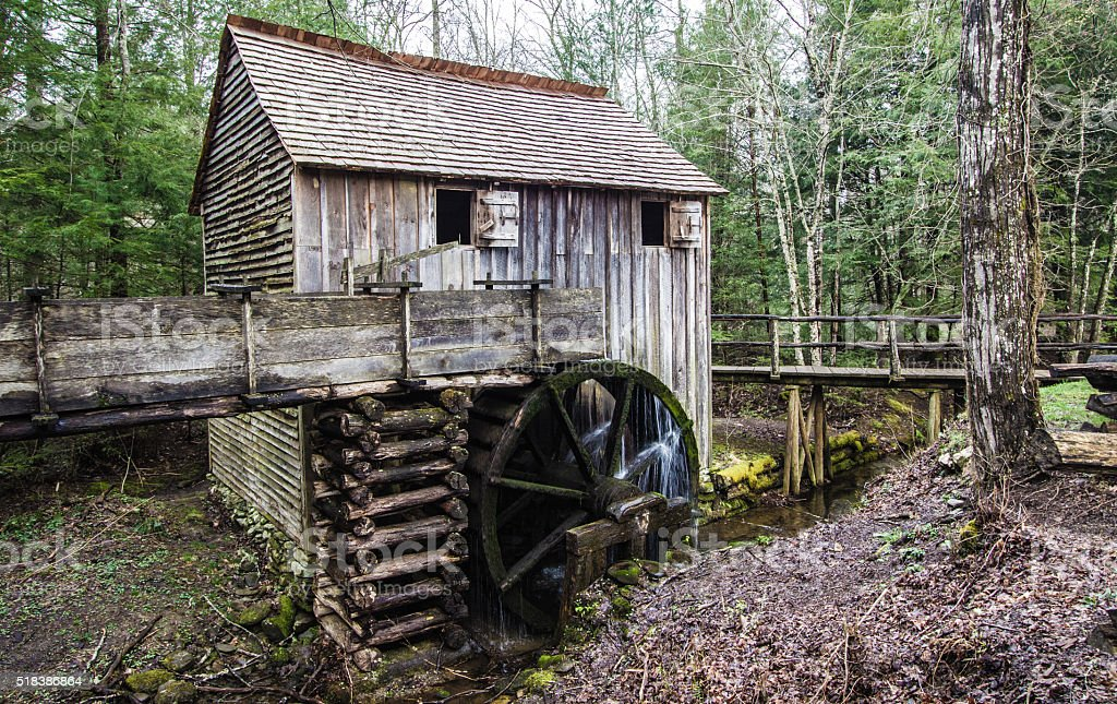 Cable Grist Mill In Cades Cove stock photo