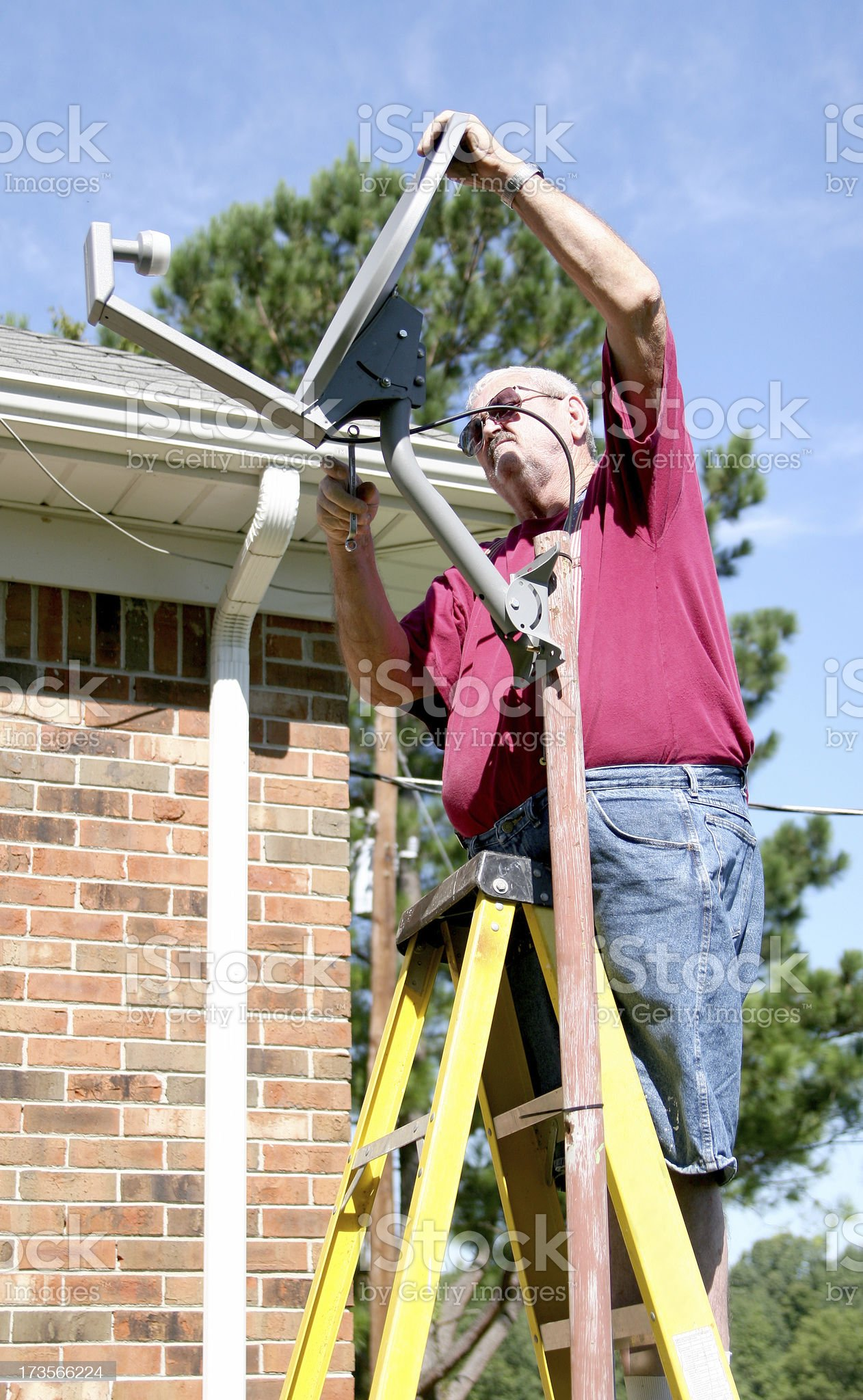 Cable Guy. royalty-free stock photo