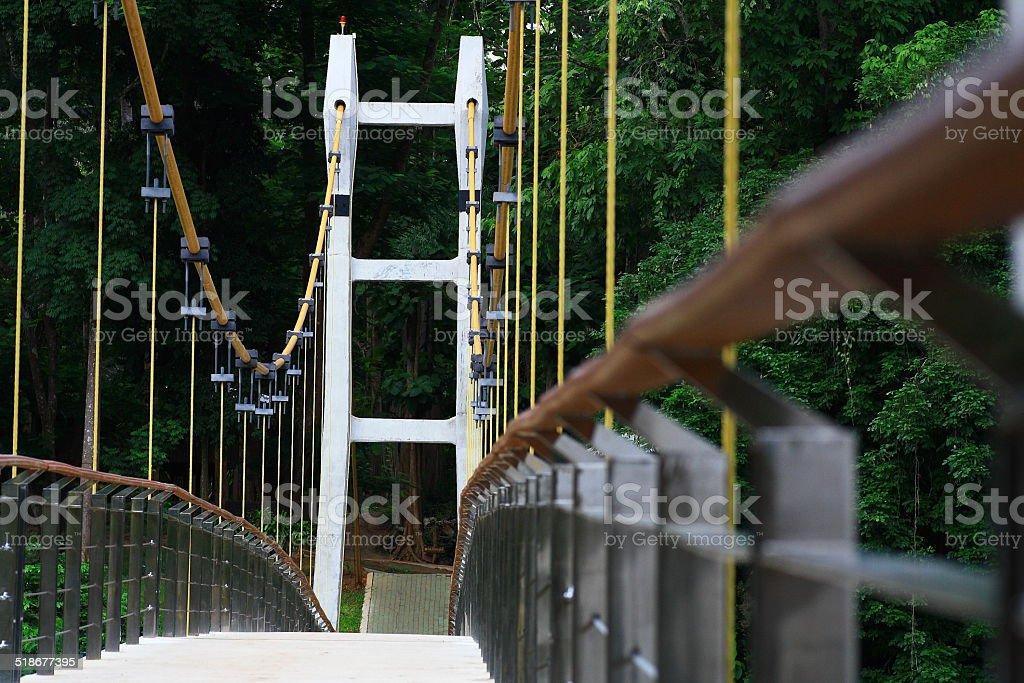 Cable Hanging Bridge stock photo
