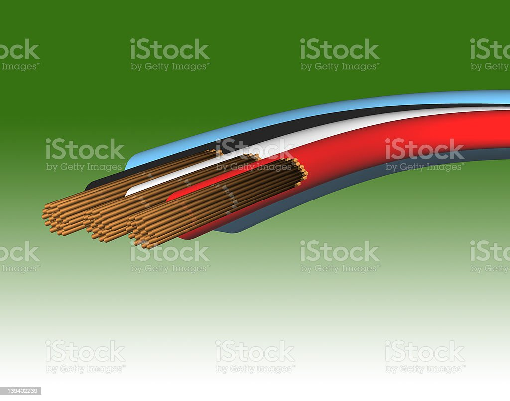 Cable Inside stock photo
