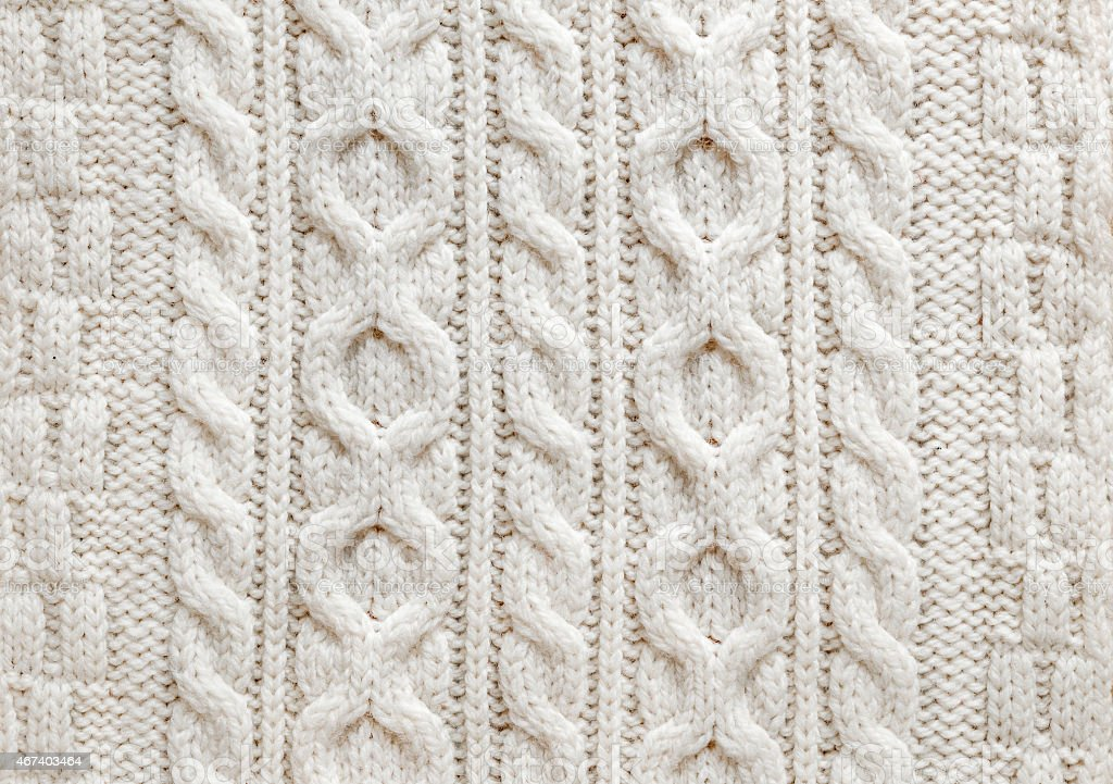 Cable knit fabric background stock photo