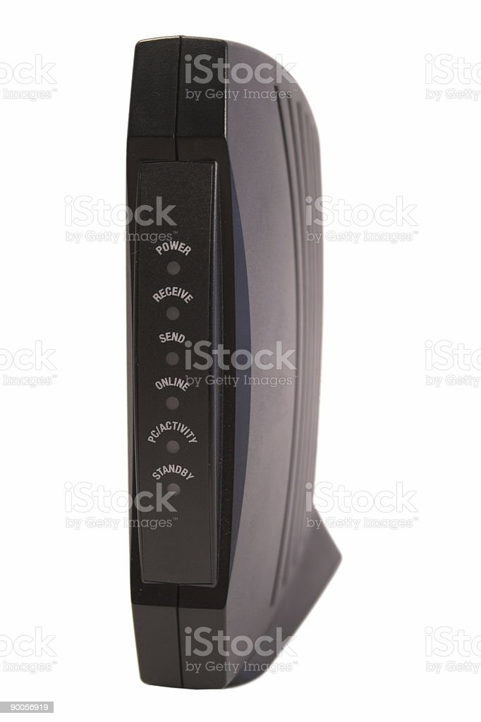 Cable Modem 2 stock photo