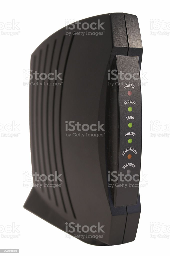 Cable Modem stock photo