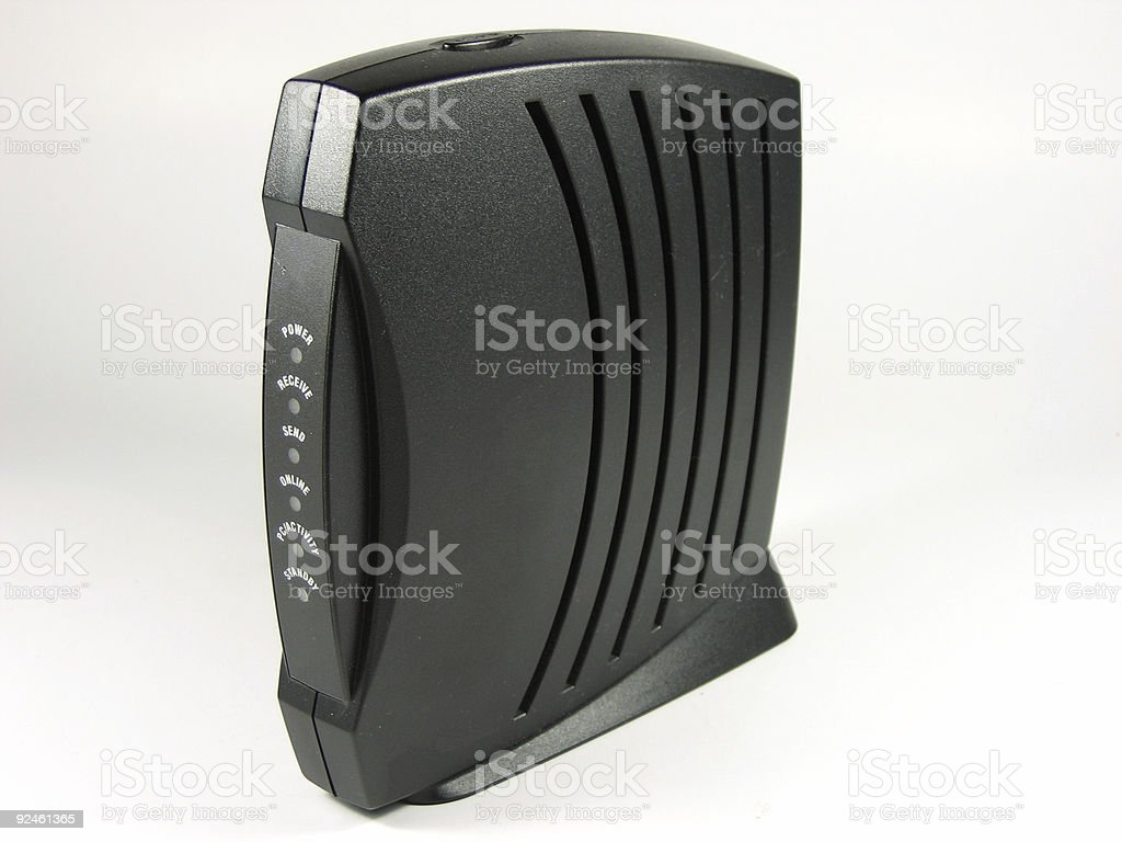 Cable modem royalty-free stock photo