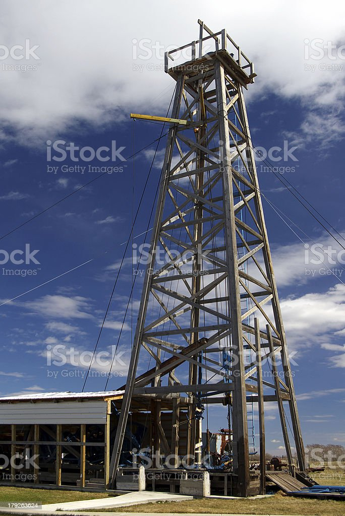 Cable Operated Oil Rig stock photo