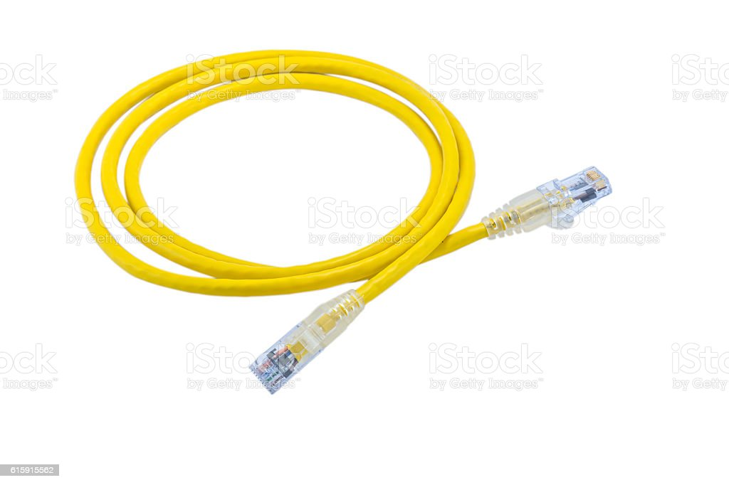 UTP cable patch cord, isolated on white background royalty-free stock photo