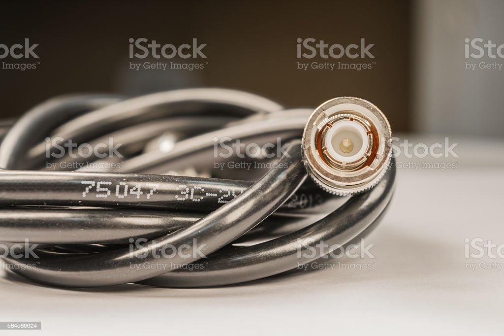 BNC cable stock photo
