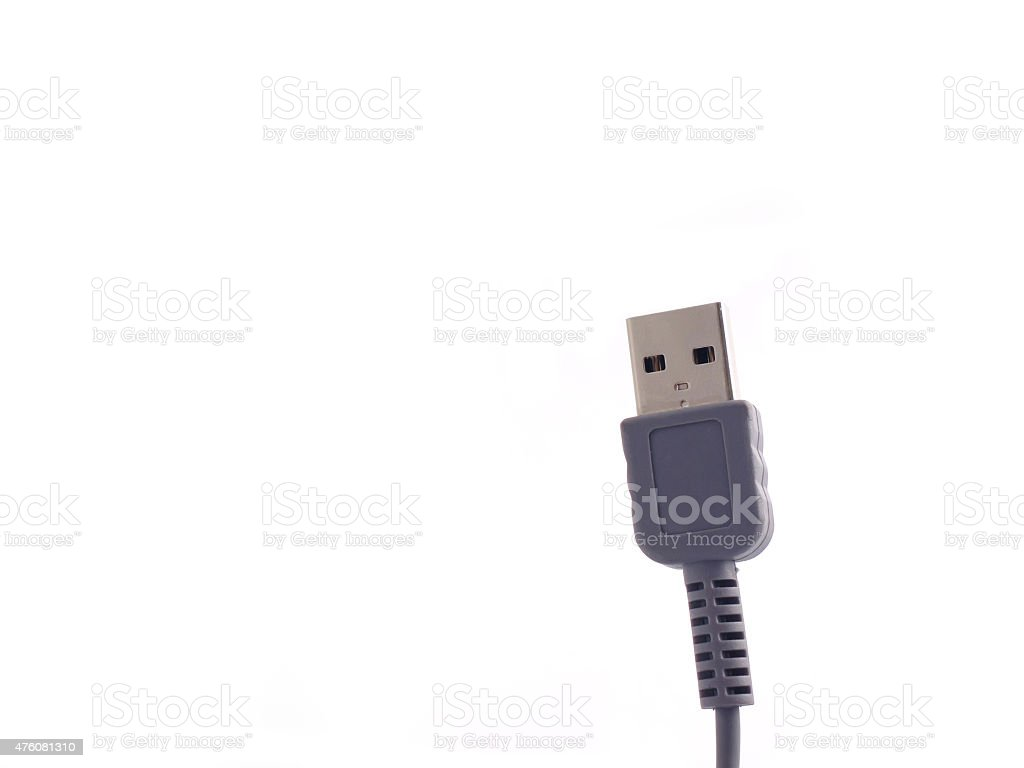 USB cable plug stock photo