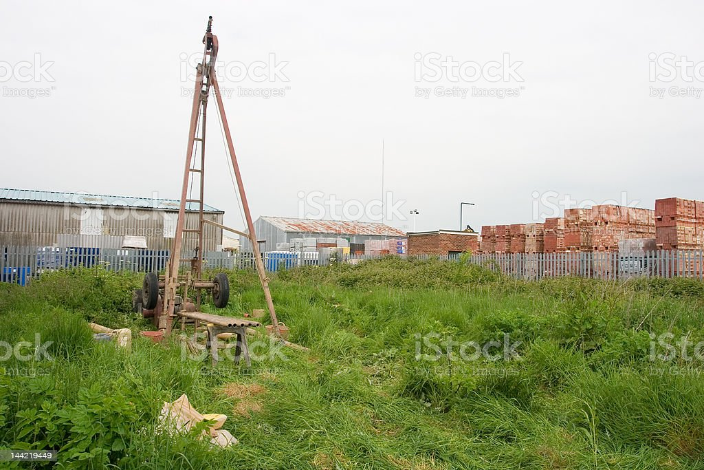Cable Purcussion drilling rig royalty-free stock photo