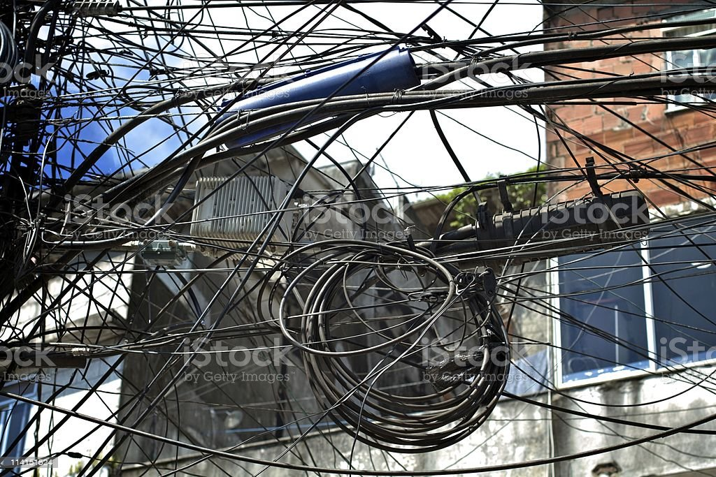Cable Puzzle stock photo
