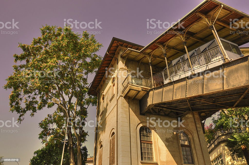 Cable railway station royalty-free stock photo