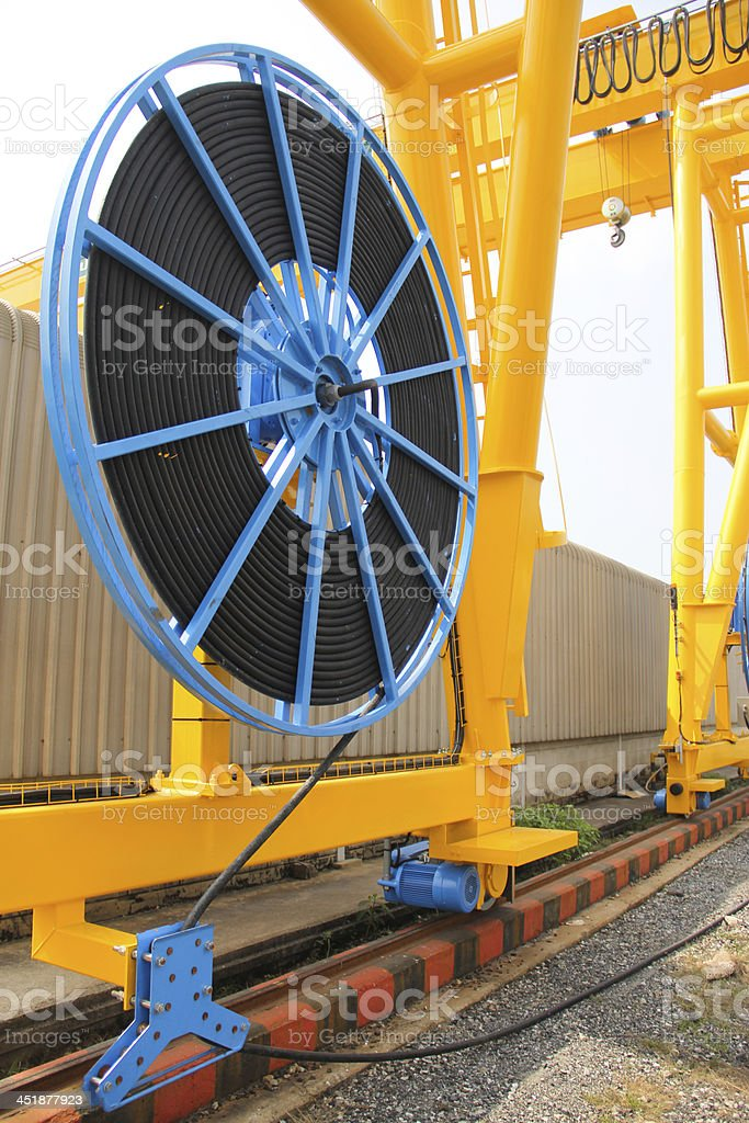 cable reel stock photo