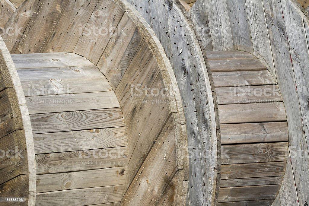 Zopfmuster-Reel-Holz-Design – Foto