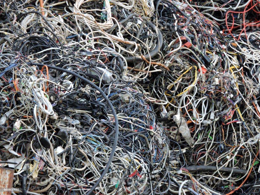 Cable Scrap stock photo