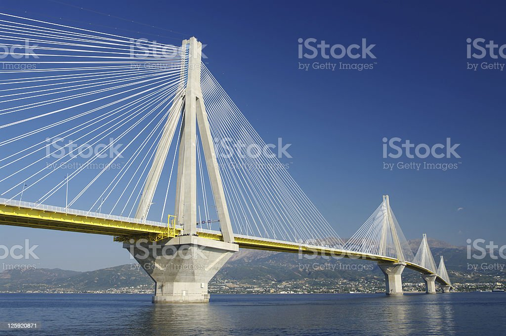 Cable Stayed Bridge, Greece royalty-free stock photo