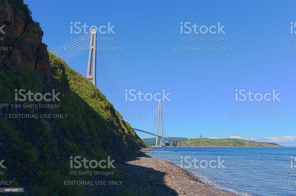 Cable stayed bridge. royalty-free stock photo