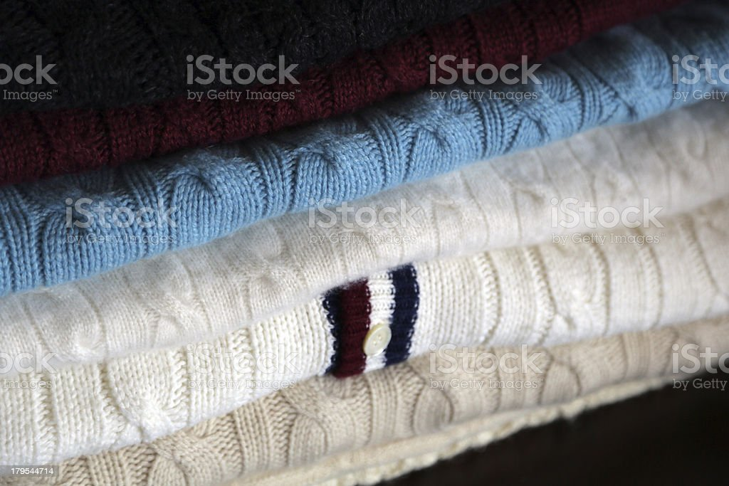 Cable Sweaters royalty-free stock photo