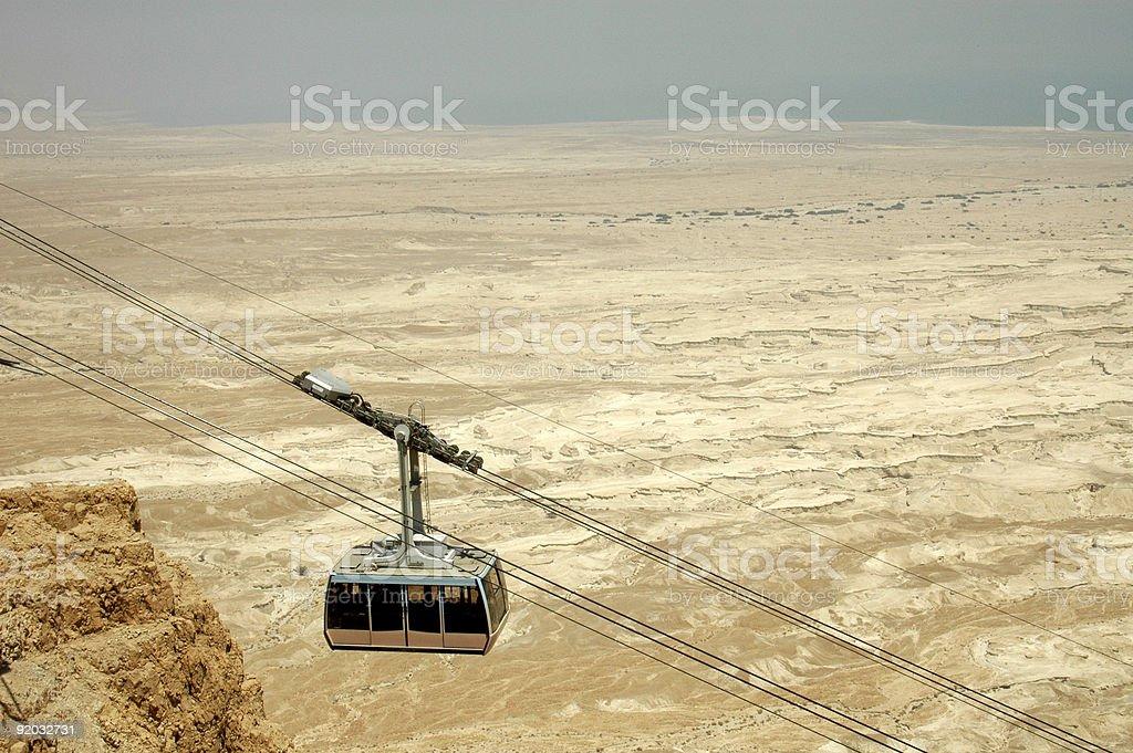 Cable to Masada stock photo
