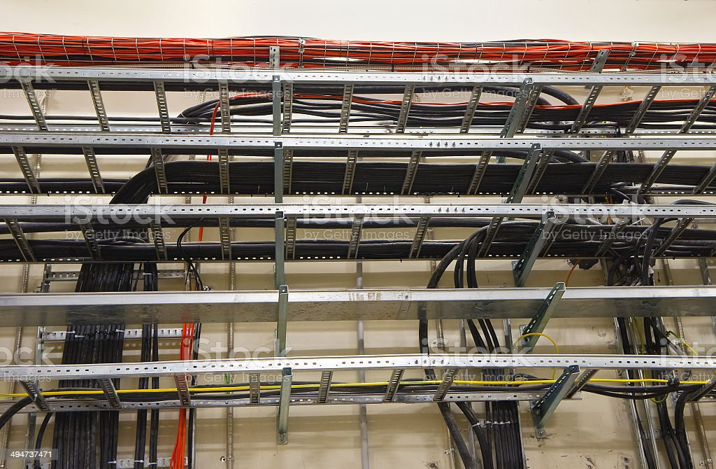 Cable Trays stock photo