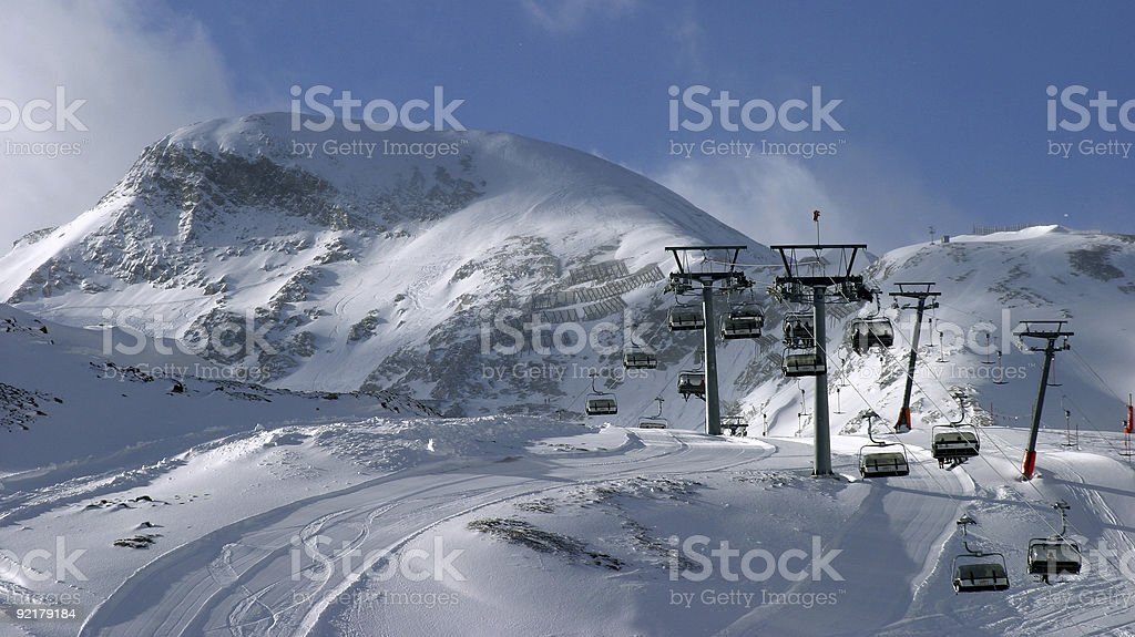 cable way in Alps royalty-free stock photo