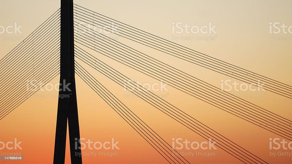Cablebridge. royalty-free stock photo