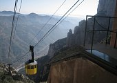 Cablecar Descending from Misty Mountains
