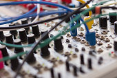 cables and electronic macro, analog synthesizer