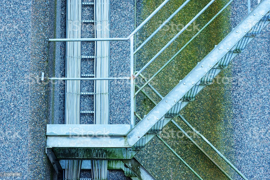 Cables and steps stock photo