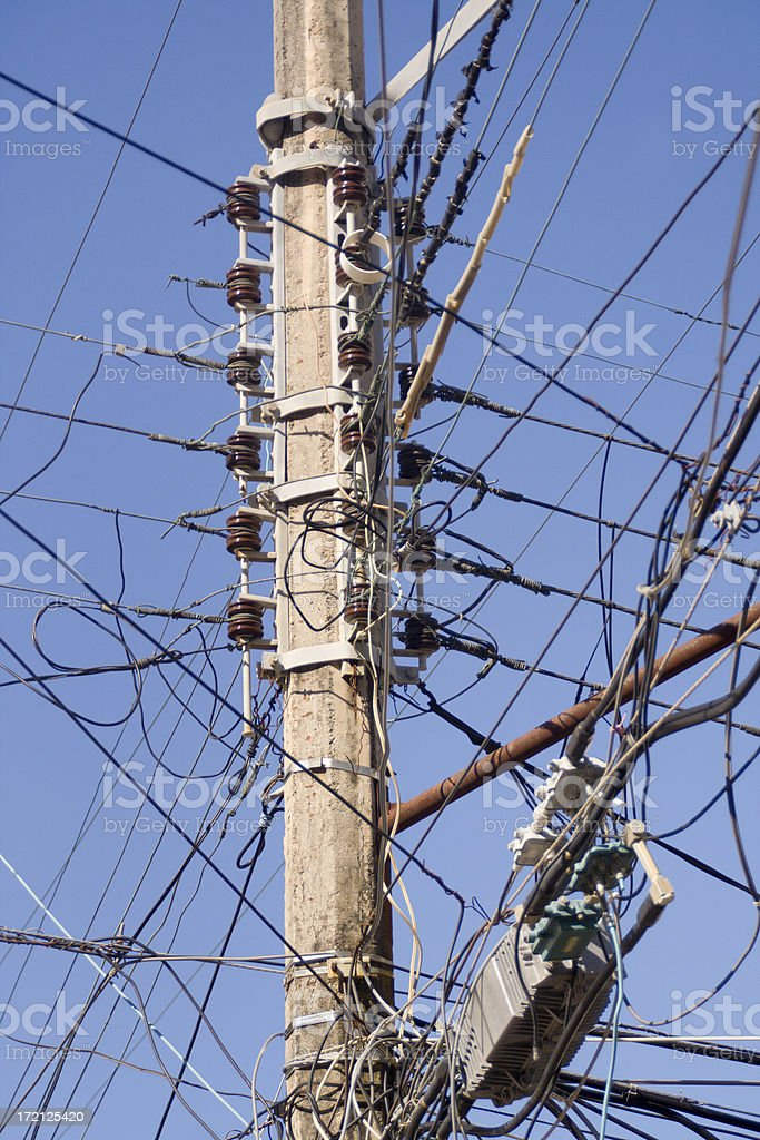 Cables Confusion royalty-free stock photo