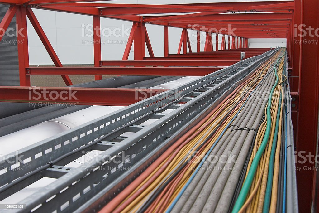 Cables in various colours royalty-free stock photo