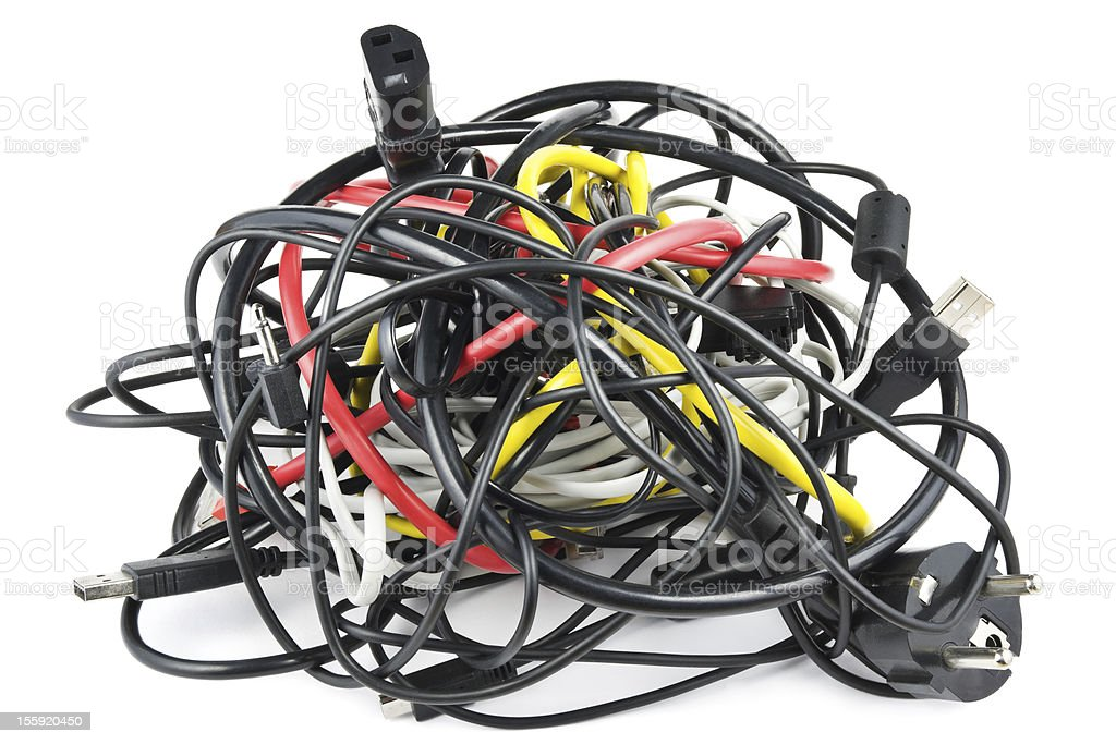 Cables knot stock photo