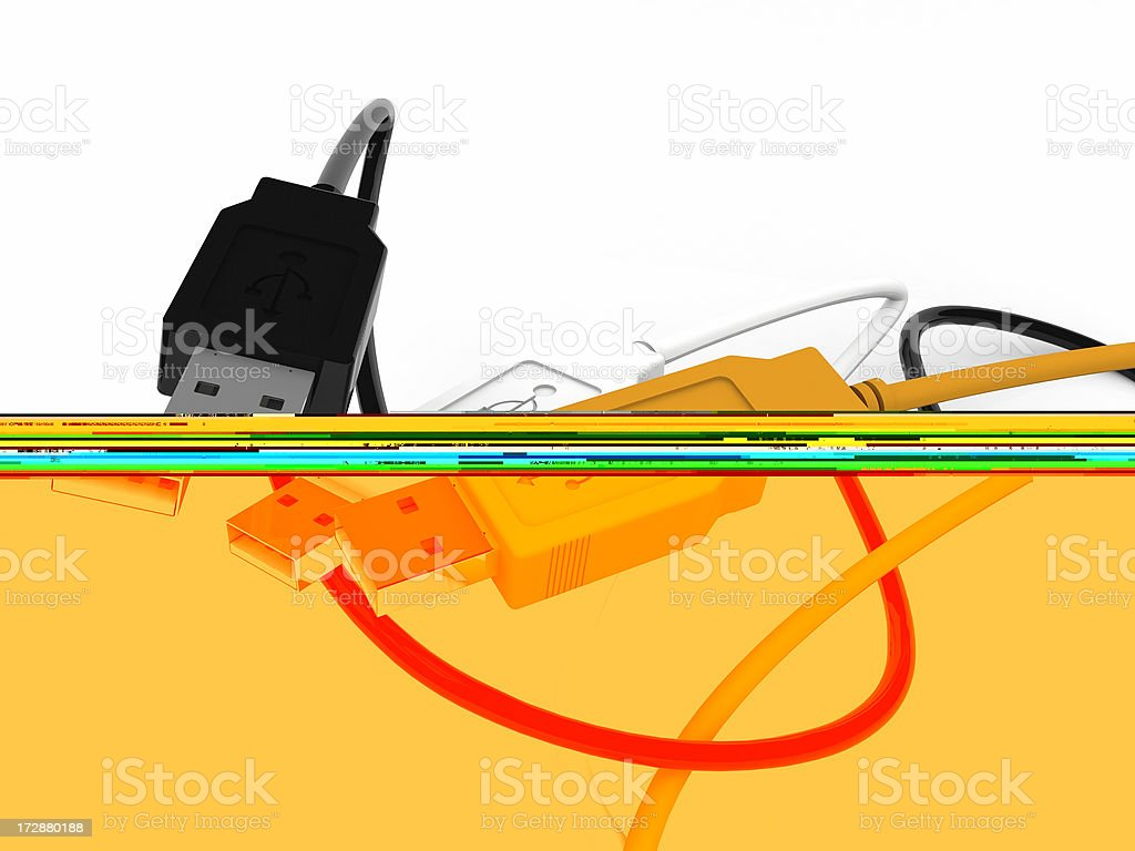 USB cables royalty-free stock photo