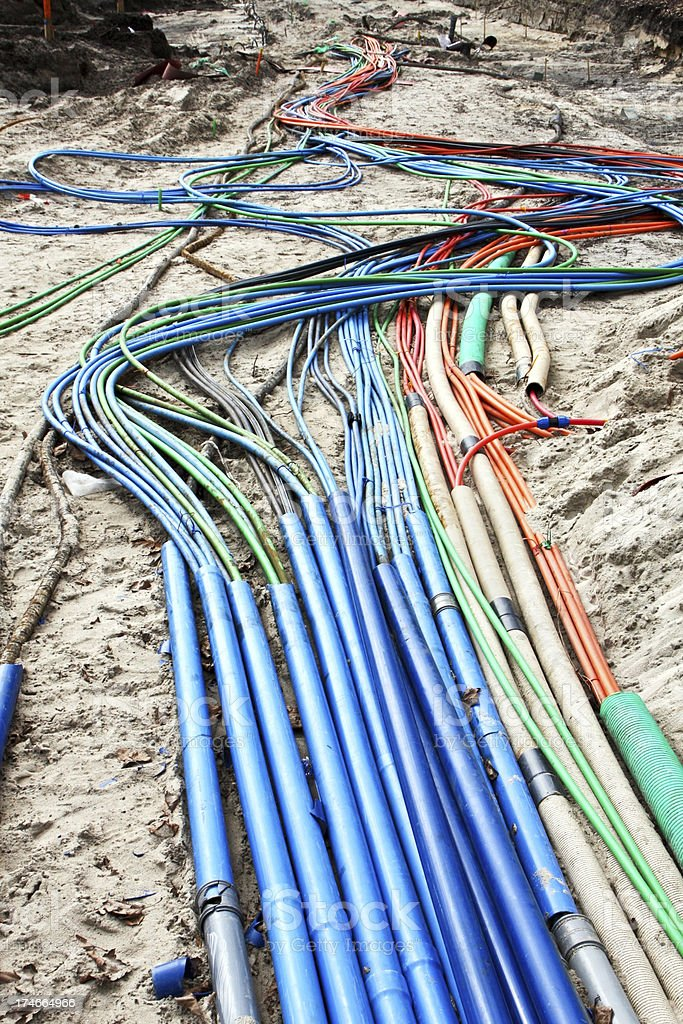 Cables underground royalty-free stock photo