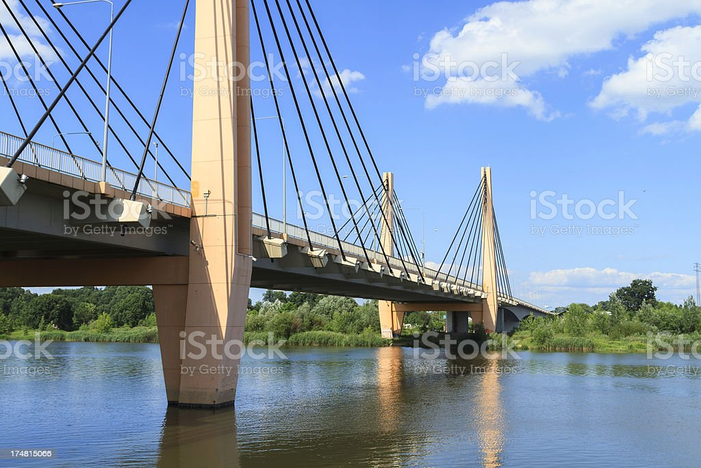 cable-stayed bridge royalty-free stock photo